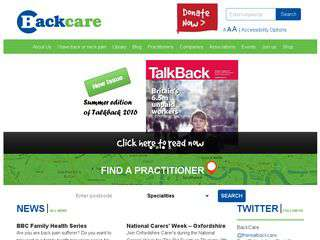 backcare.org.uk - backcare.org.uk